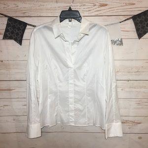 Boss Hugo Boss Stretch Collar Long Sleeve Blouse